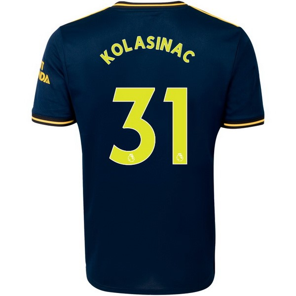 Maillot Foot Arsenal NO.31 Kolasinac 3ª 2019-2020 Bleu